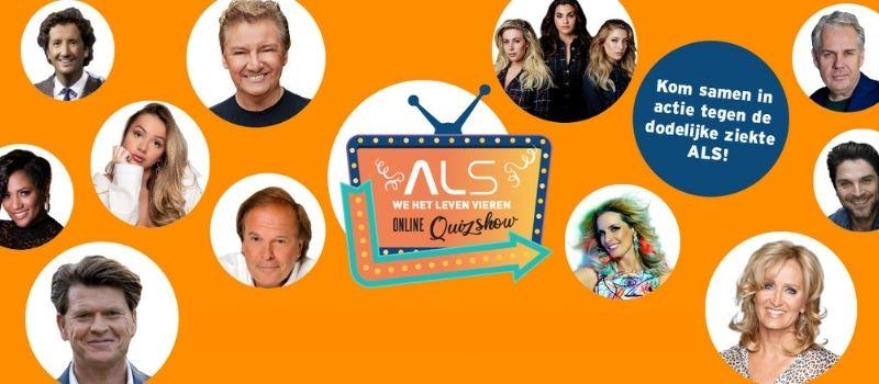 Online quizshow ALS we het leven vieren, fondsenwervend evenement