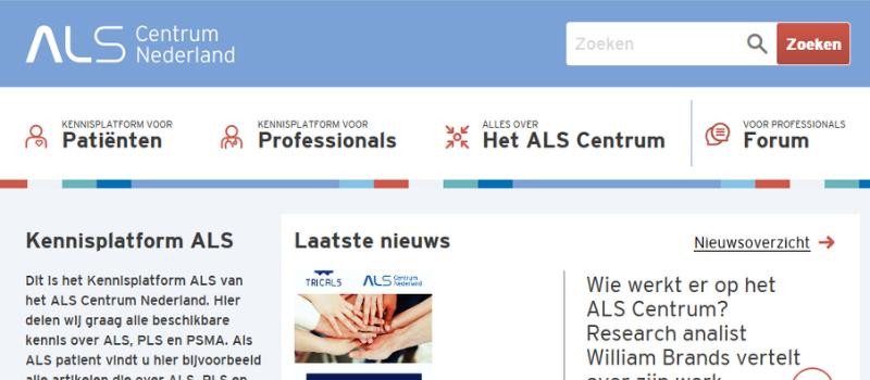 screenshot kennisplatform ALS
