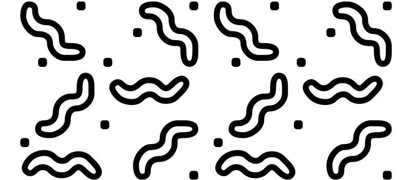 illustratie wormpjes