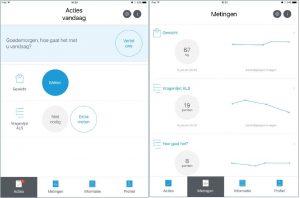 Impressie ALS app E-health