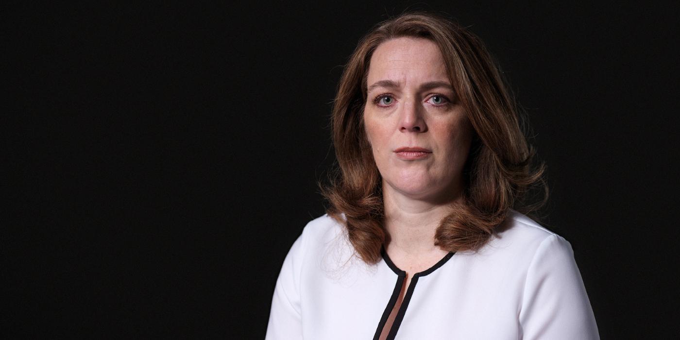 Astrid Wagner nam als nabestaande deel aan de campagne 'Geen tijd te verliezen'