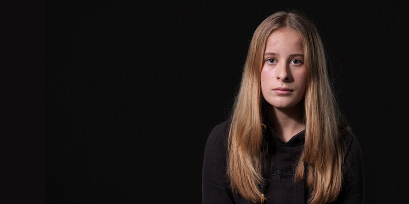Julia Vendel nam als nabestaande deel aan de campagne 'Geen tijd te verliezen'