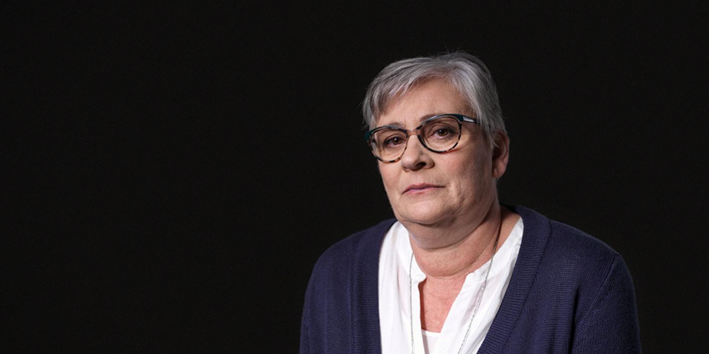 Marjan van den Eijnde nam als nabestaande deel aan de campagne 'Geen tijd te verliezen'