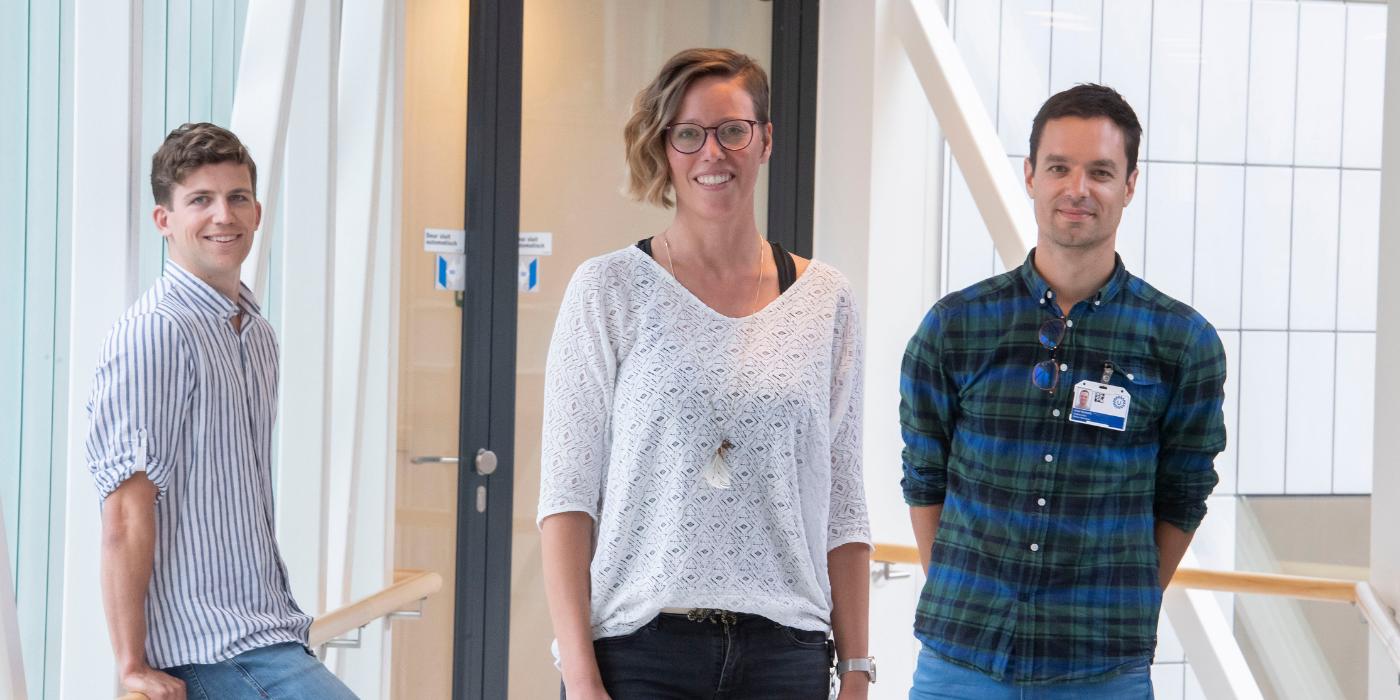 Onderzoekers ALS Centrum Jaap, Manon en Jochem