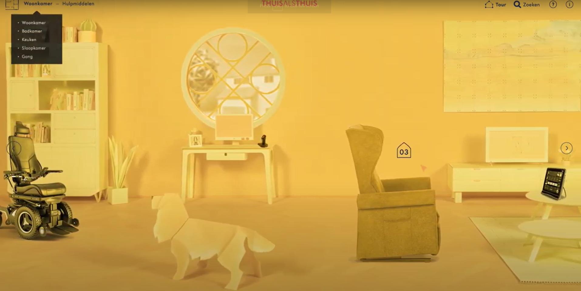 screenshot video van virtueel huis